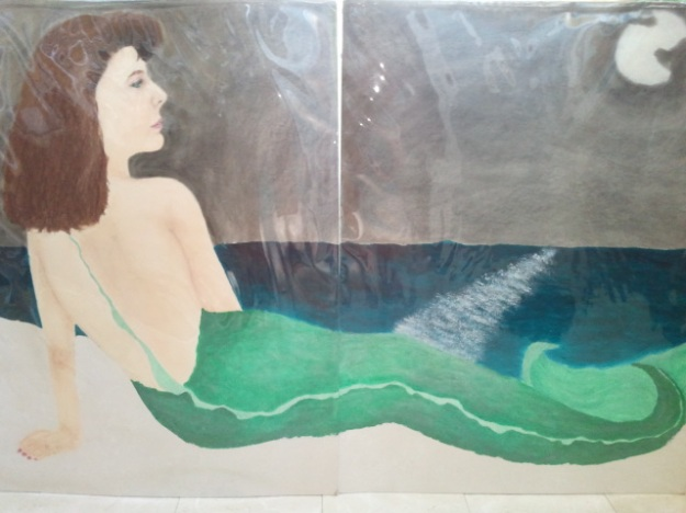 Life-size self portrait of me as a mermaid