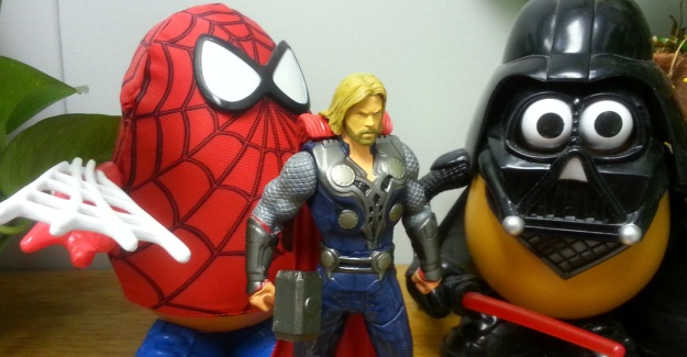 Thor wondered about the potato-shaped men...