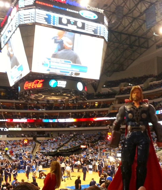The god of thunder cheered his team to victory.